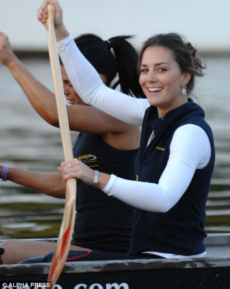 Well practised: Kate, pictured here in 2007, took part in a cross-channel race
