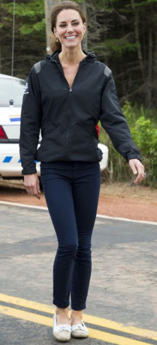 Kate, pictured as she heads toward the lake where she took part in the dragon boat race
