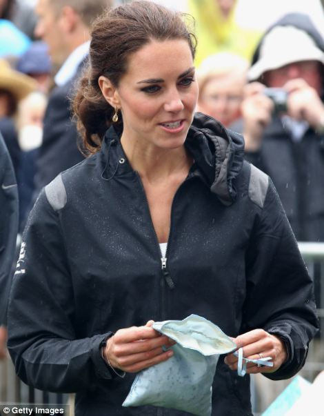 Kate took part in a smudging ceremony after arriving on shore