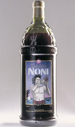 Super juice: A bottle of Miranda's beloved Tahitian Noni Juice cost around $38 a litre