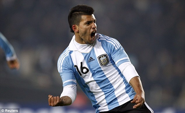 Juve target: Sergio Aguero has been lined up by the Italian giants as a foil to Tevez