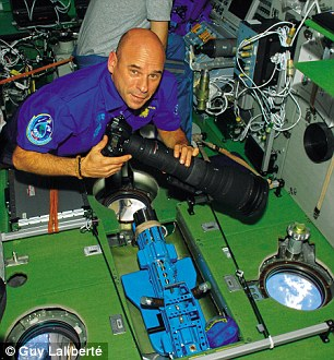Guy Laliberté travelled on the Russian Soyuz TMA-16 rocket