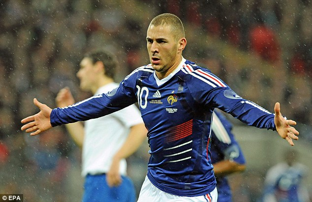 In demand: Karim Benzema celebrates after scoring for France against England at Wembley last year