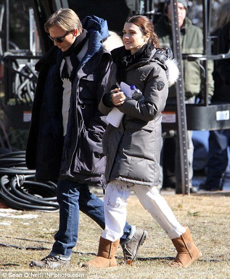 Private life: Craig and Rachel Weisz, pictured here on the set of their film The Dream House last year, married in a secret ceremony last month