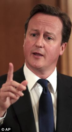 David Cameron during a press conference at 10 Downing Street on Friday