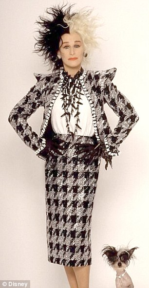 Inspiration: Gaga's new look is reminiscent of Disney character Cruella de Vil from One Hundred and One Dalmatians
