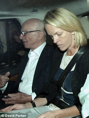High profile: Murdoch arrives at the House of Commons