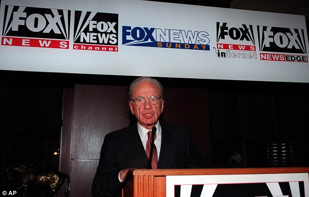Major player: Mr Murdoch's empire includes Fox News, the Wall Street Journal and the New York Post in its portfolio