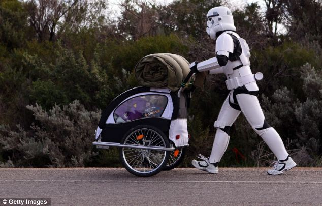 Using the Force: French is walking to raise money for the Starlight Foundation - an organisation that aims to brighten the lives of sick children in Australia