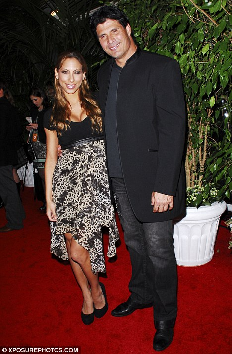 Bitter breakup: Jose Canseco took to Twitter several times this week to vent about his split with girlfriend Leila Shennib, pictured in February 2011