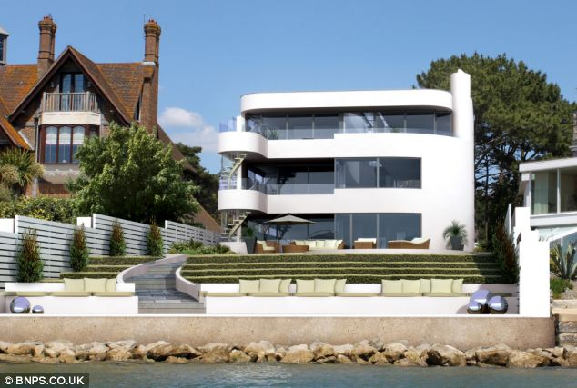 Shipshape: This computer generated images show how architects have tried to make the house in Sandbanks look like a ferry