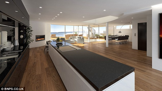 Plenty of space: The huge open plan living space will provide the perfect venue for parties