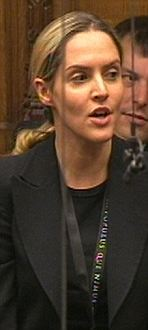 Louise Mensch MP speaks in the House of Commons after Prime Minister David Cameron made a statement on  phone hacking