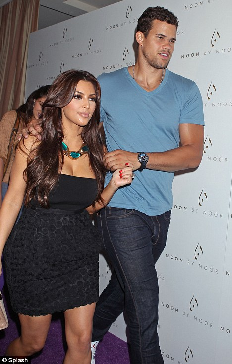 Soon to wed: Kim is walking down the aisle to marry Kris Humphries next month