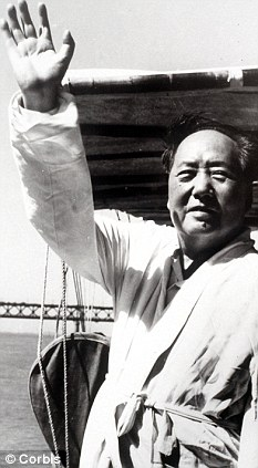 Mao Tse Tung after after swimming in the Yangtze river.