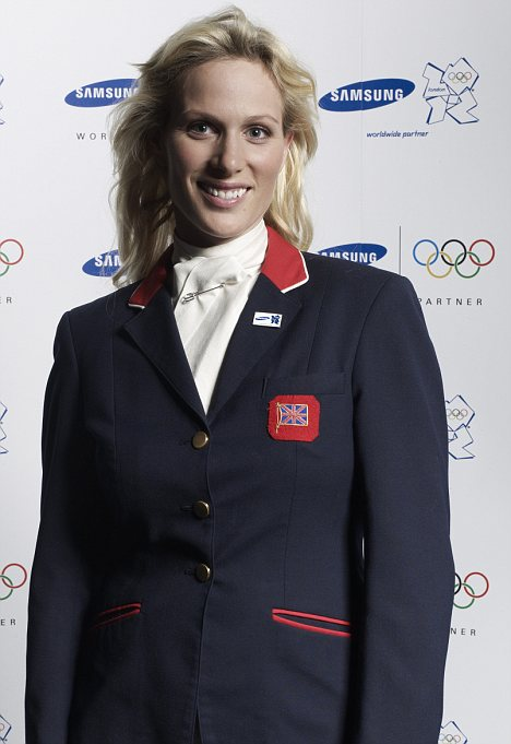 Glamorous: Top sportswoman Zara is looking forward to her 'special' party on Britannia