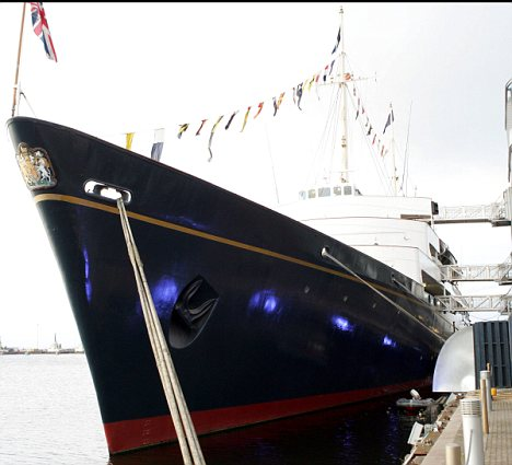Britannia was decommissioned in 1997, but will host the Royal Family once again on Friday night