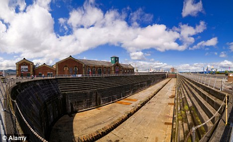 A view of the Thompson Dry Dock in Belfast