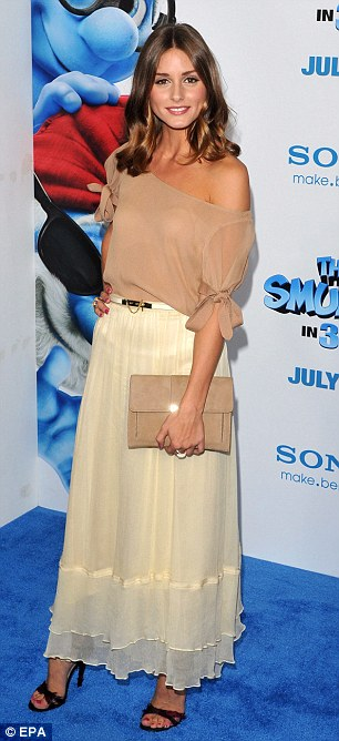 Celebrity guests: Reality star Olivia Palermo (left) Brooke shields both watched the film