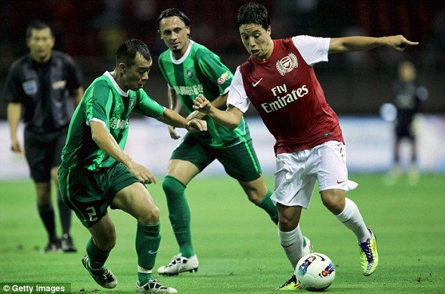 Uncertain future: Samir Nasri is a target for both Manchester clubs, while Arsenal are desperate to keep him