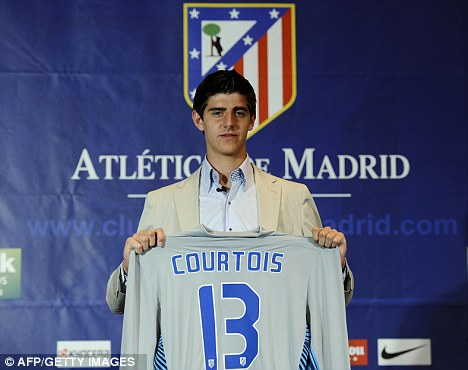 A new era: Courtois was unveiled at Atletico
