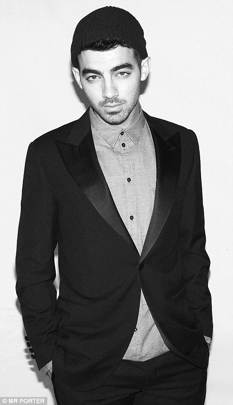Joe in tuxedo jacket by Lanvin and shirt by Dolce & Gabbana