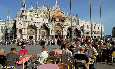 The grandeur of St Mark's Square where both locals and tourists can relax