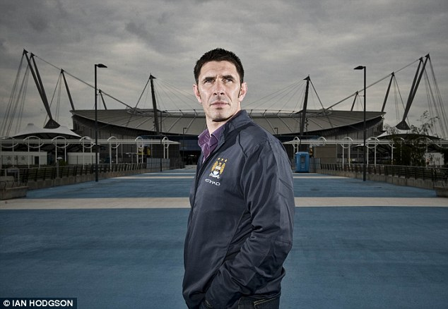 Maine man: Lake, 42, now performs an ambassadorial role for Manchester City at the Etihad Stadium