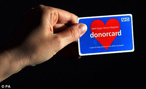 Wise move? Motorists will have to answer a question about whether they want to donate their organs after death before getting their driving license