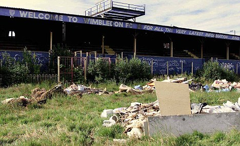 Troubled past: The original club left their Plough Lane home