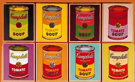 Back on the shelf: The soup that Warhol loved so much is now back on Britain's supermarket shelves after disappearing for three years