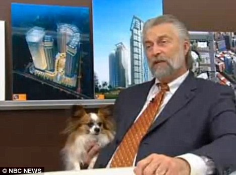 Man's best friend: Medical Marijuana Delivery Systems president Jim Alekson says animals suffer from maladies and chronic pain similar to humans