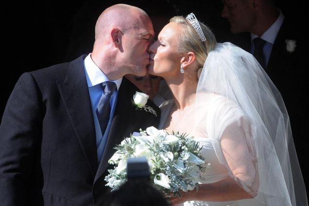 Romantic: Veil and tiara complement Zara's sleek blonde hair