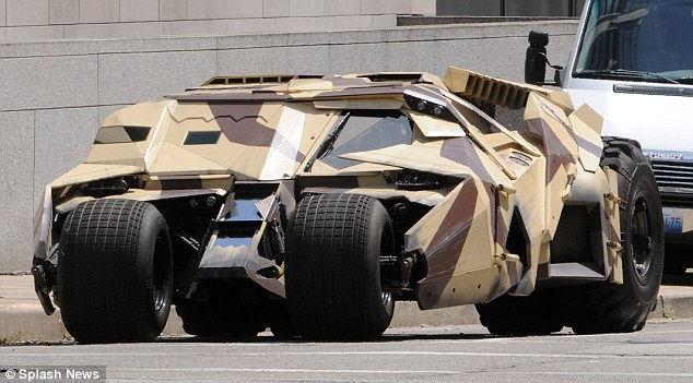 Gas guzzler: The large vehicle looked menacing on the streets of Pennsylvania