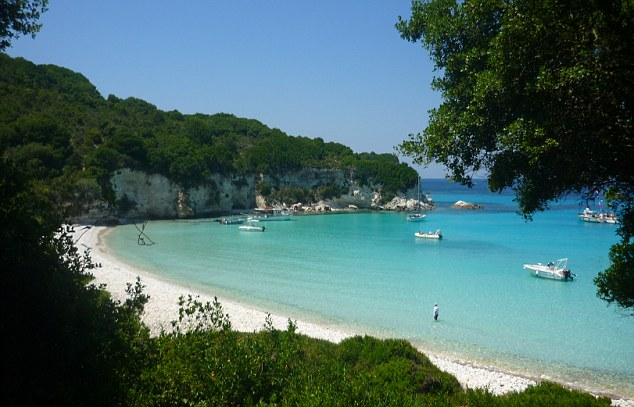 A view of Voutoumi beach, Antipaxos