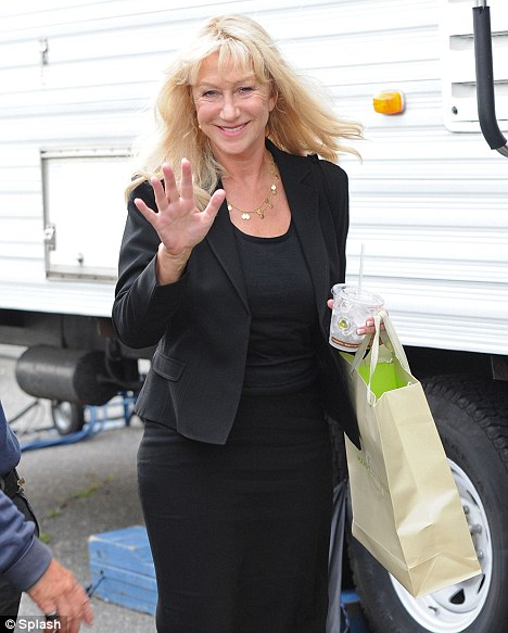 Defiant: Despite warnings from Hollywood insiders to quit, Helen Mirren arrived on the set of hew new Phil Spector film today