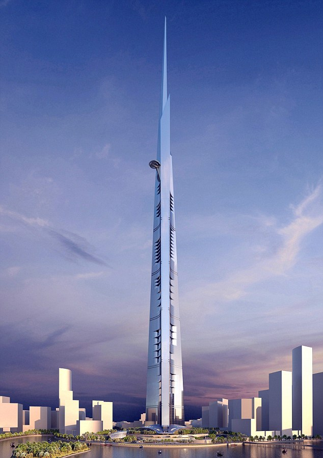 Incredible: How the world's tallest tower, to be built in the Red Sea city of Jeddah, will look