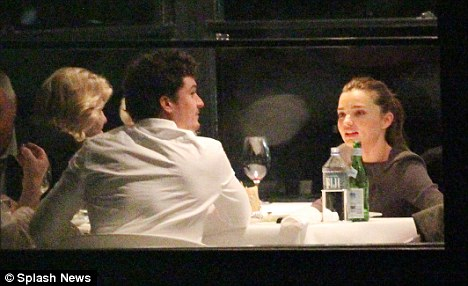Window seat: The family enjoyed a meal in one of Sydney's many wonderful restaurants