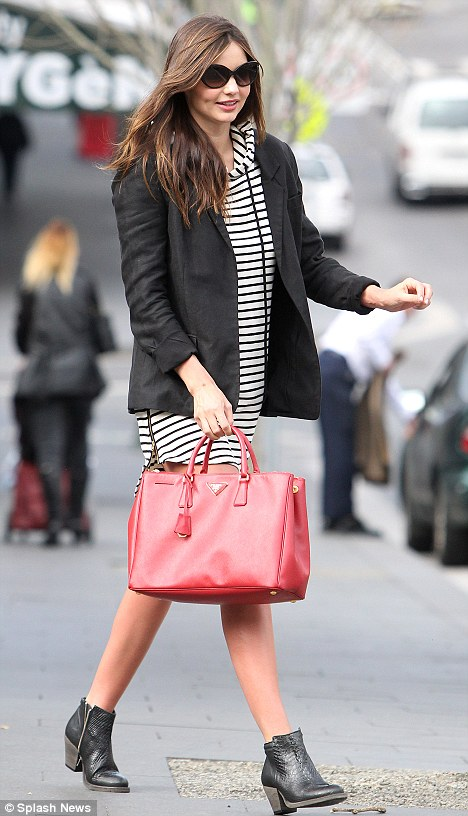 Me time: Miranda was getting a hair treatment at Atlantis hair salon in Sydney
