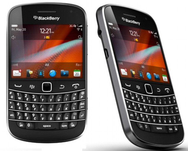 Pay as you go: The new technology allows credit card details to be loaded onto a Blackberry Bold 9900 (pictured) or 9930 and then make payments of up to £15 by waving it against a reader in-store