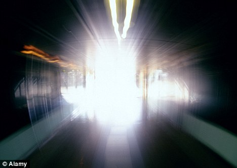 White light: Many NDE survivors report seeing tunnels of white and coloured lights as the float out of their bodies