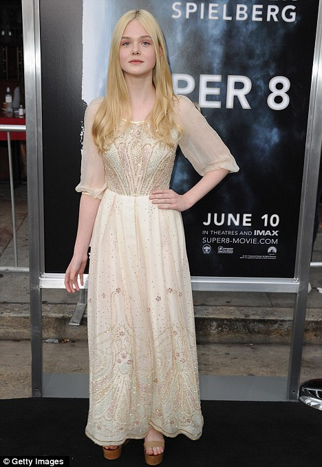 Premiere: Actress Elle Fanning arriving at the Super 8 premiere in Los Angeles, after starring in the movie