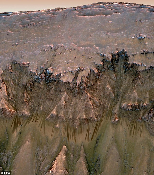 Life on Mars? If this turns out to be the signs of water, the sites may provide a promising hunting ground for signs of life on Mars