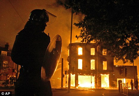 Destruction: London remains in the grip of riots