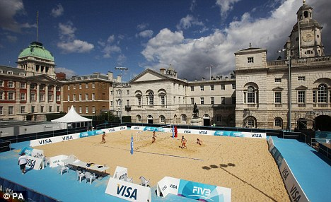 Going ahead: Ongoing Beach Volleyball Olympics test event at Horse Guards Parade given green light