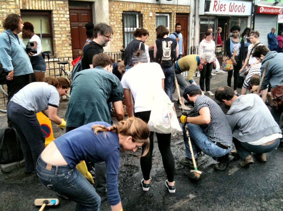 Residents of Hackney club together to clean the streets outside their homes