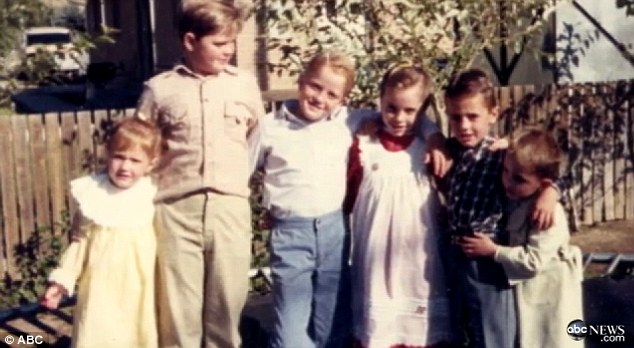 Innocent: Jerusha, far left, said she was just seven when she was sexually abused by Jeffs
