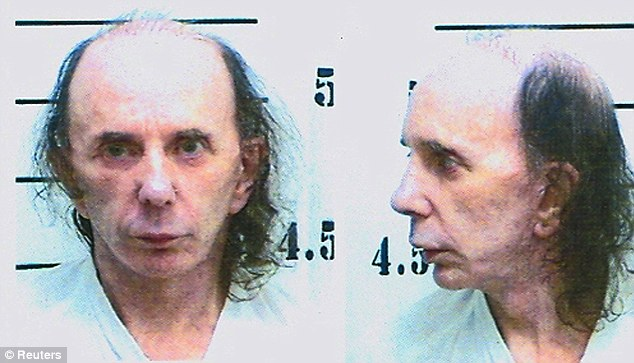 Bare reality: Police mugshots reveal balding Spector without his wigs
