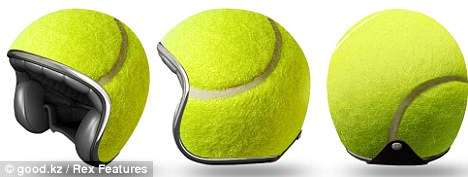 Tennis mad: Riders will surely stand out with this tennis ball-inspired look