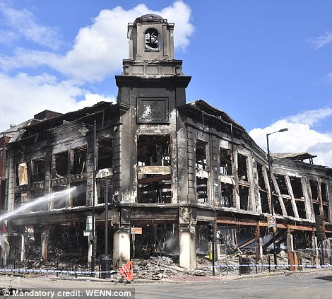 The aftermath of the Tottenham riots in North London